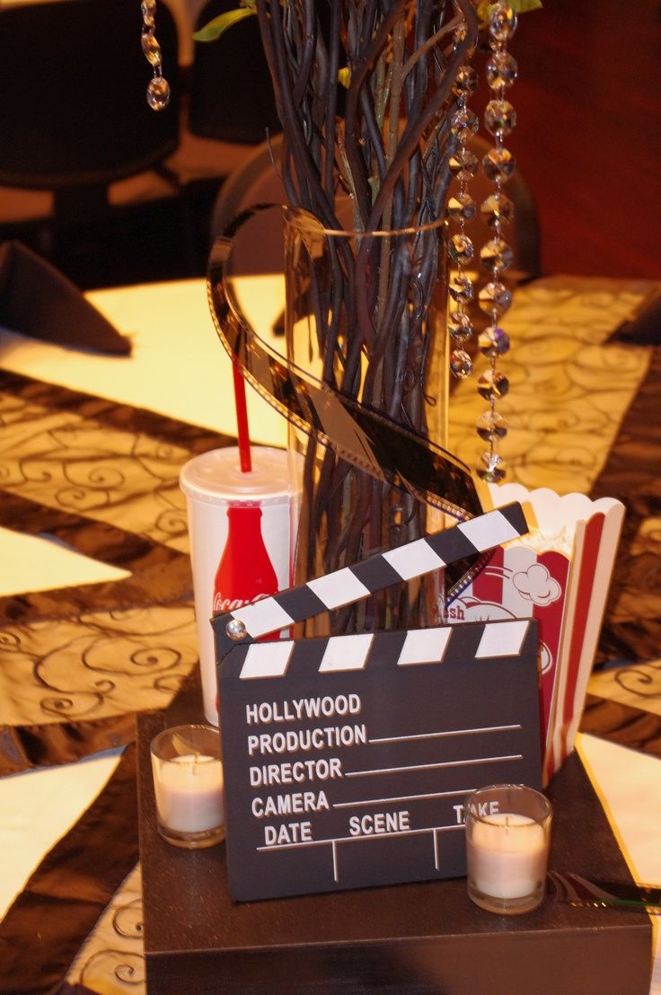 Hollywood Decor Centerpiece Hollywood Party Decorations