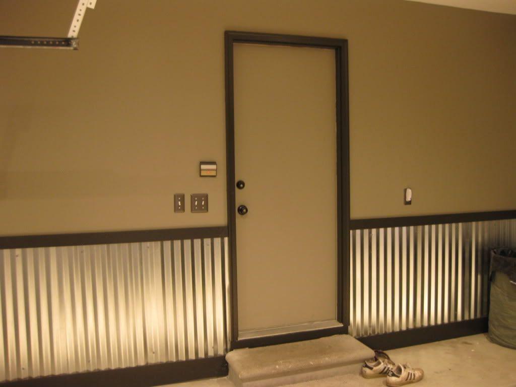 Corrugated Metal Paneling Garage Walls Wainscoting Wainscoting