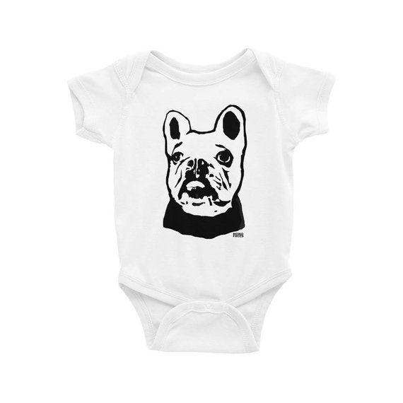 206c8a1f9 French Bulldog Baby Onepiece, French Bulldog Clothing, Frenchie Shirt, Dog  Baby Shower, Newborn Body