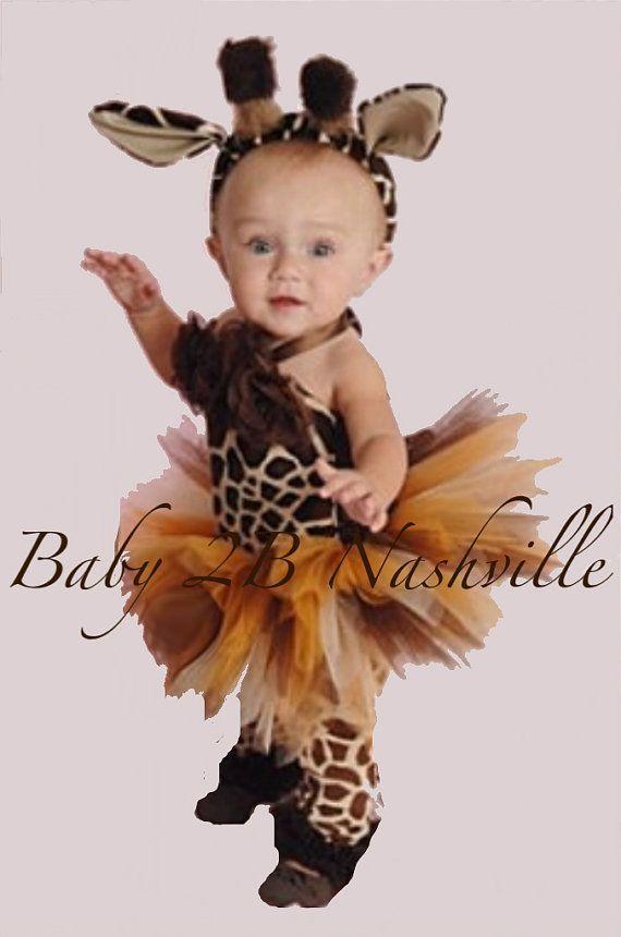 Baby Giraffe Costume Brown Safari Baby Costume Giraffe Costume Tutu Costume Baby Tutu Baby Giraffe Tutu Top and Skirt ONLY #giraffecostumediy Baby  Brown GiraffeTutu Outfit up to 24M by Baby2BNashville, $70.00 #giraffecostumediy