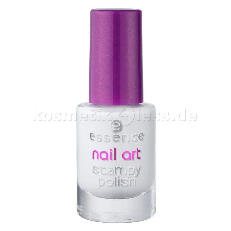 Essence Nageldesign Nail Art Stampy Polish 01 Stamp Me White Cosmetics False Eyelashes Nageldesign Nagel Essence