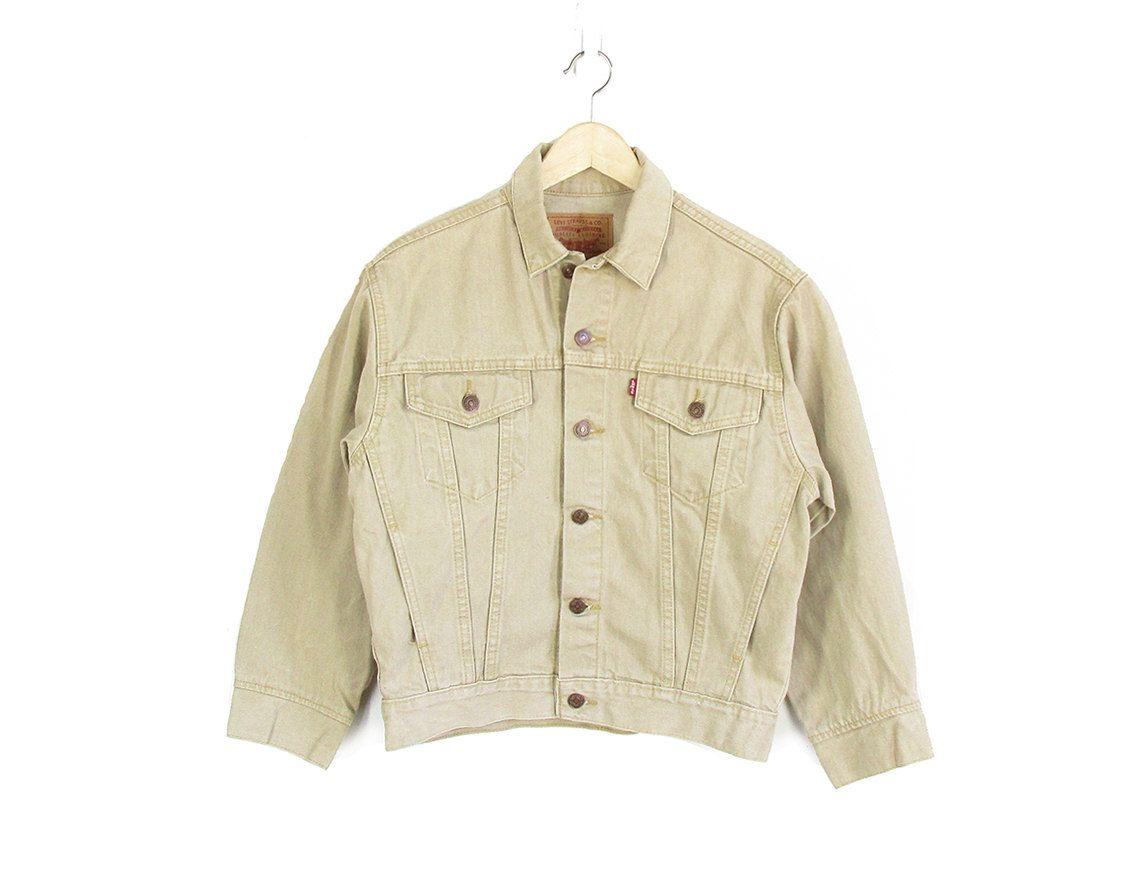 Vintage Tan Levis Jacket 90s Levis Denim Jacket Light Beige Jean Jacket Womens M Vintage Denim Jean Jacket Women Beige Jeans [ 886 x 1148 Pixel ]