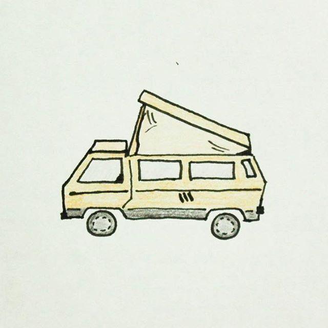 CAR   #이런밴이필요해 #그냥그렇다고 #밴 #서핑카 #캠핑카 #아웃도어 #라이프 #숲 #드라이브 #출발 #고고 #드로잉 #일러스트  #rv #car #suv #van #surf #camping #outdoor #life #gooutside #forest #drawing #illustration