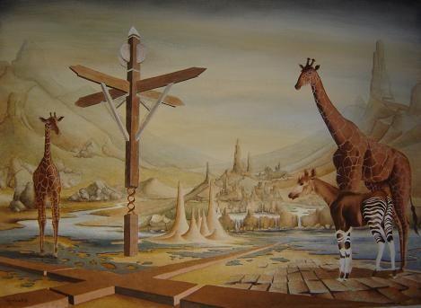 Surrealist paintings and sculptures of artist Bob Reidinga