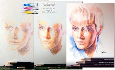Clases de pintura en Las Palmas. Retratos al óleo.: Watercolor pencils.