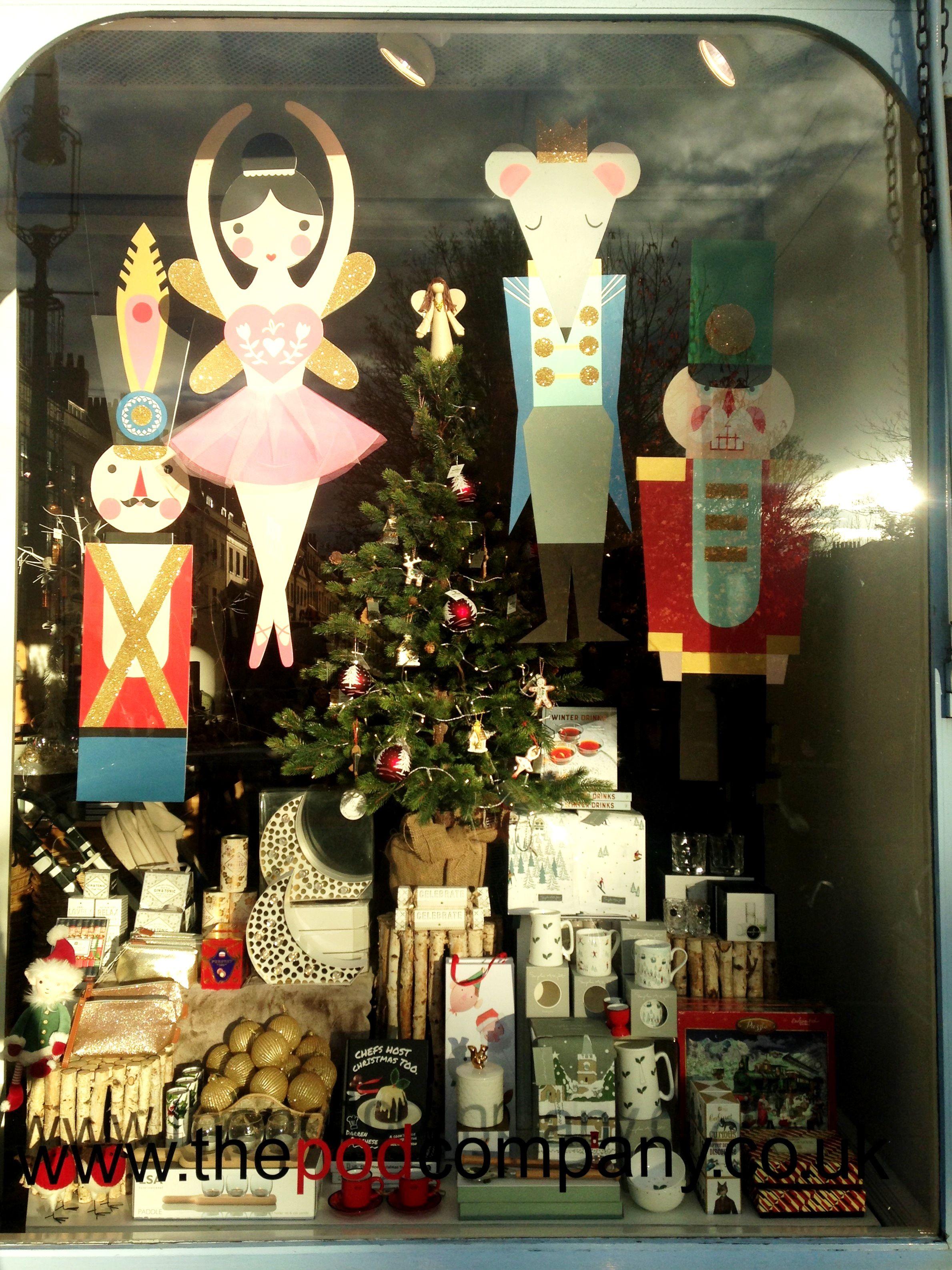 Christmas nutcracker window display office christmas