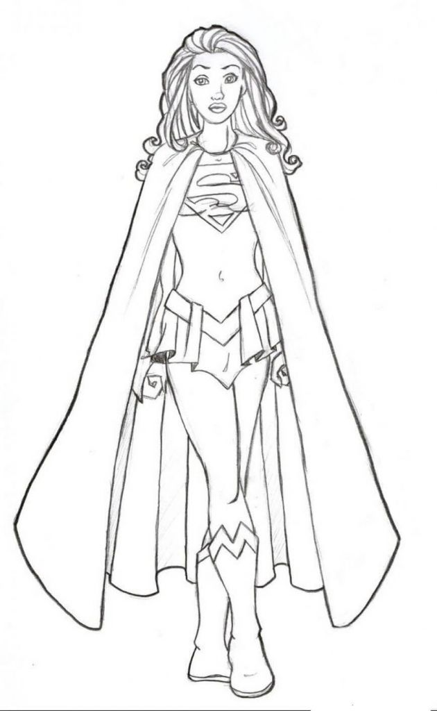 Supergirl Coloring Pages Word