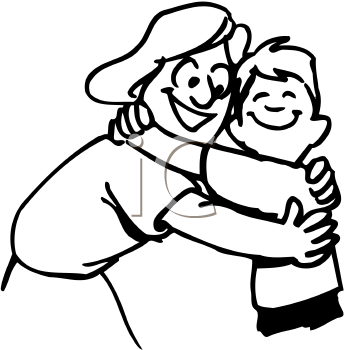 Hugs Black And White Clipart Clipart Black And White Art