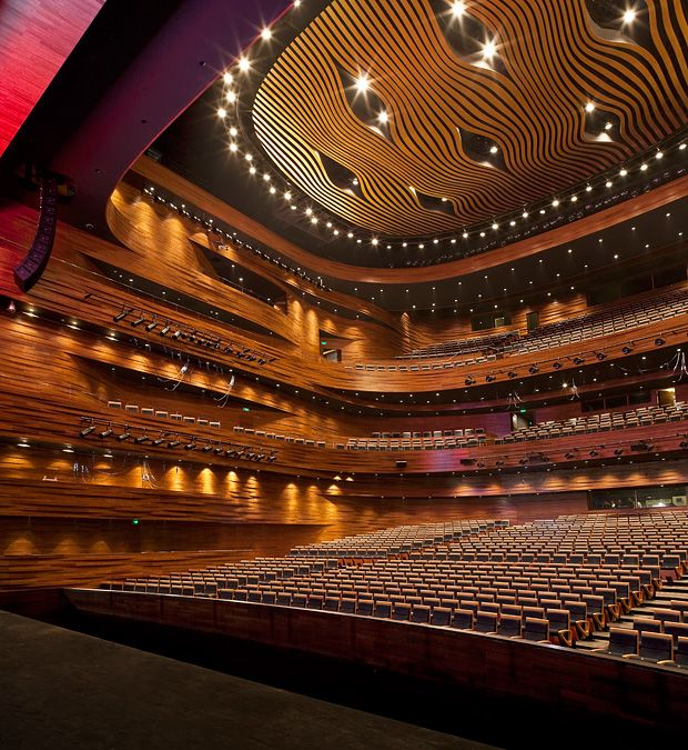 Wuxi Grand Theatre von PES-Architects. Theatre built with 17,000 blocks of bamboo.