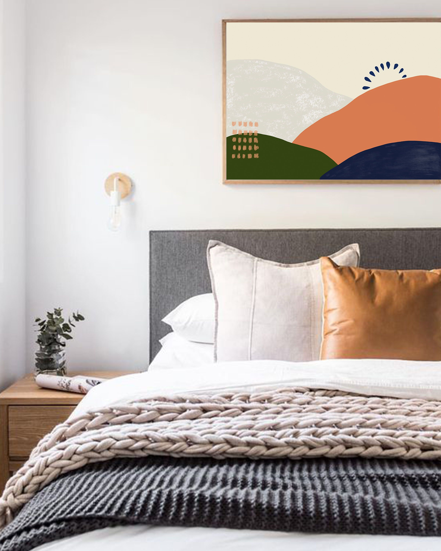 horizontal wall decor for bedroom