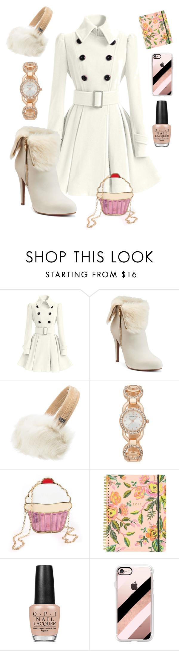 """""""Vanilla Chic"""" by discobubbles on Polyvore featuring Jennifer Lopez, UGG, Charter Club, Rifle Paper Co, OPI and Casetify"""