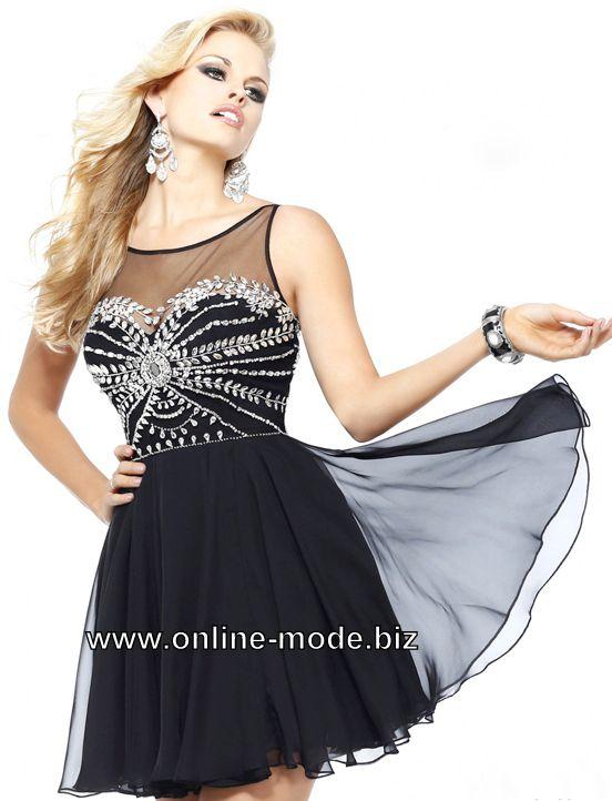 Tüll Cocktailkleid Kurzes Abendkleid in Schwarz von www.online-mode ...