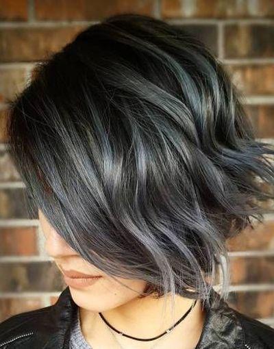 Grey Hair Color For Short Hairstyles 2018 Highlights Volosy Hair