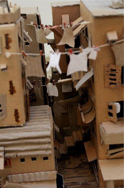 Favela 2 Cardboard Sculpture Cardboard City Cardboard Art