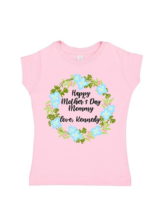 0575bfbc baby girl mother's day outfit | pink newborn 1st mom's day bodysuit |  personalized gift for new mom