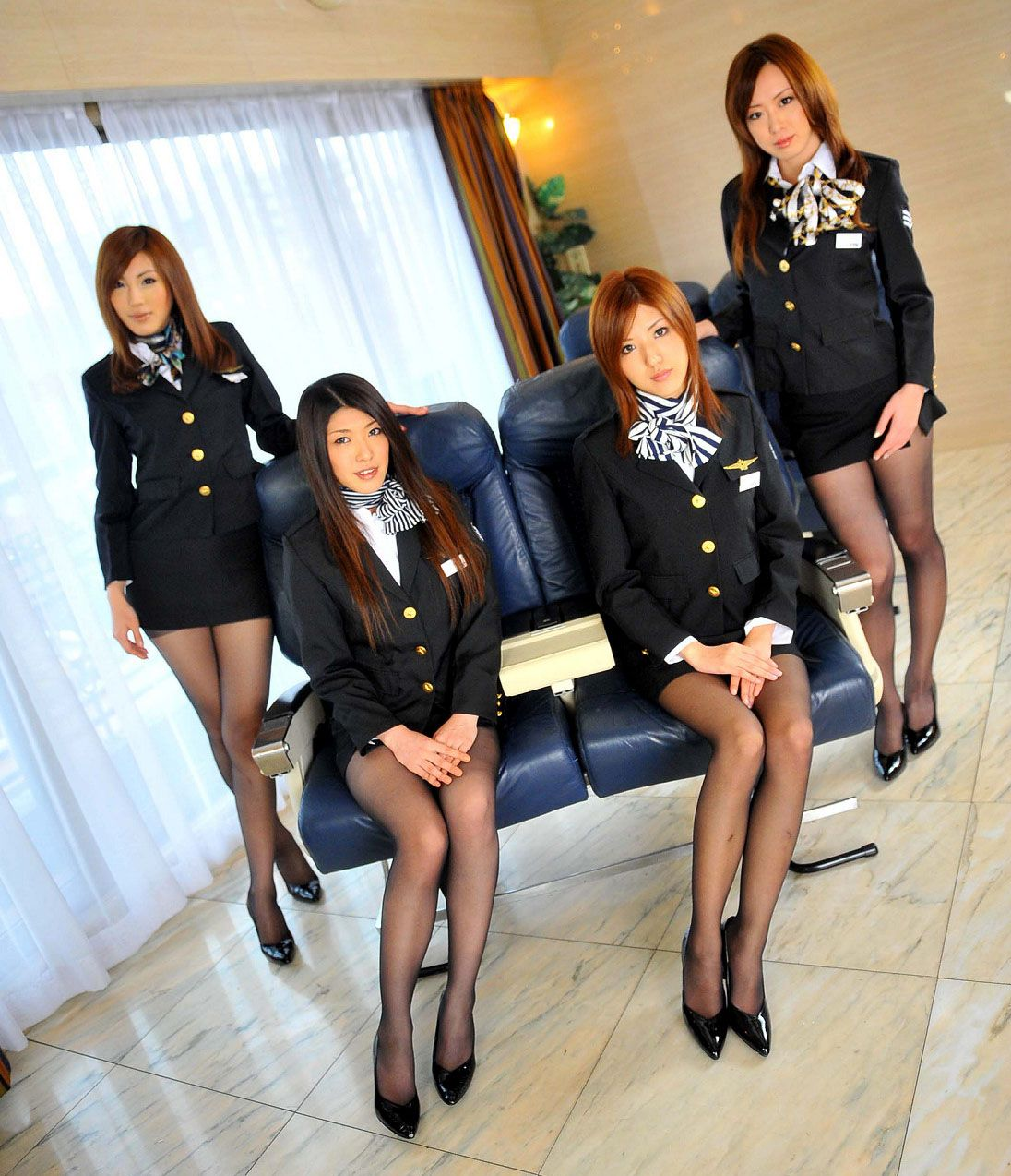 Sexy japanese stewardesses han