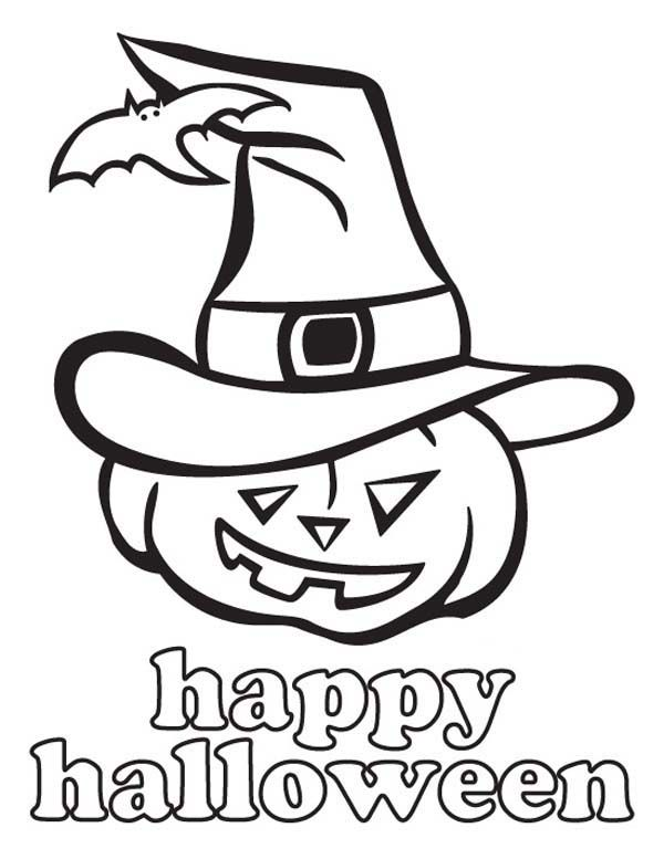 Joyful And Happy Halloween Day From Jack O Lantern Coloring Page Halloween Coloring Sheets Halloween Coloring Pages Halloween Coloring