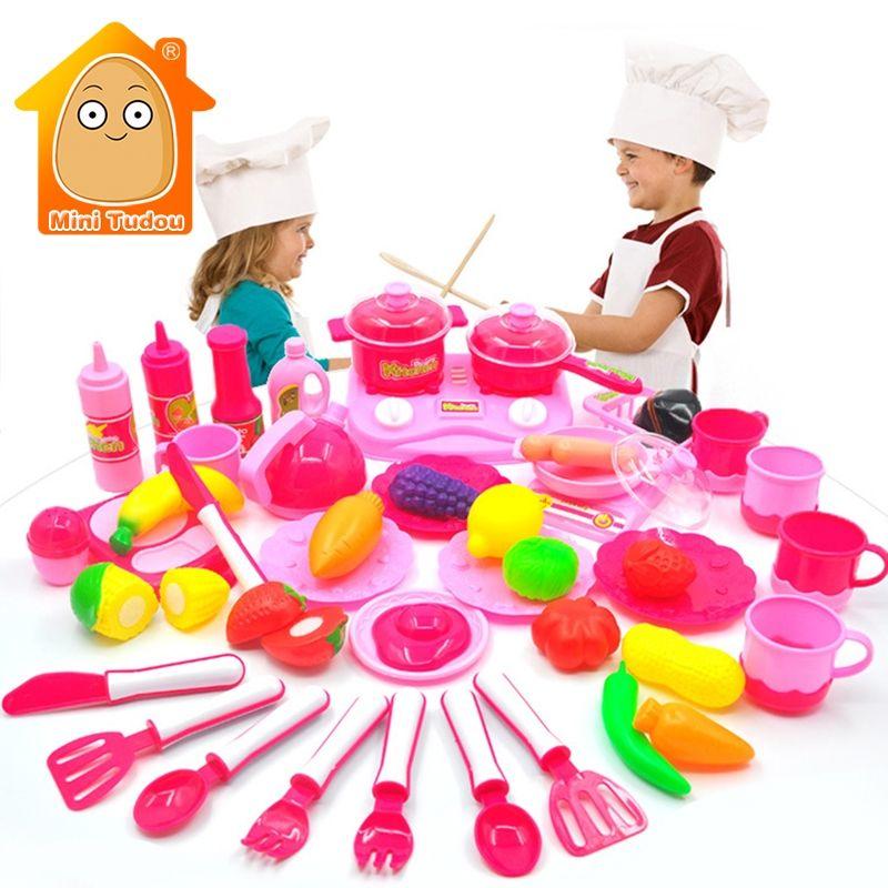 Minitudou Kinder Küche Set Pretend Play Cut Spielzeug Utensilien 9 ...