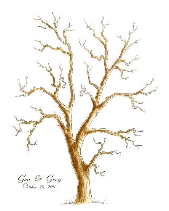 Medium Wedding Tree Guest Book Family Tree 16 X 20 Customizable