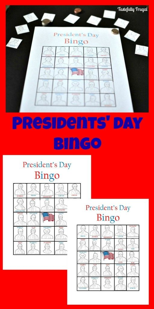 Presidents' Day Bingo #presidents