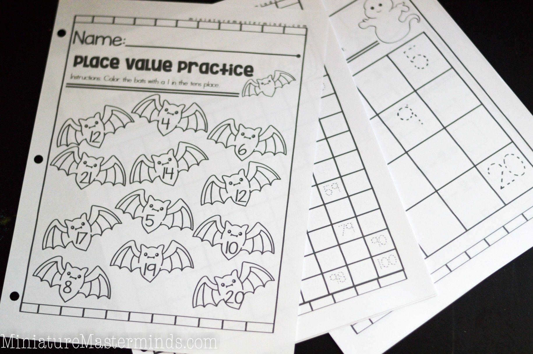 Halloween Themed Kindergarten And First Grade Math