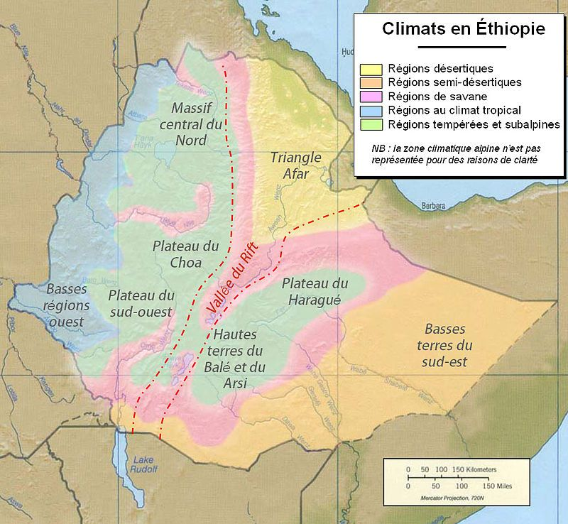 Ethiopia climate map - Éthiopie u2014 Wikipédia Africa H Pinterest - new ethiopian plateau on world map