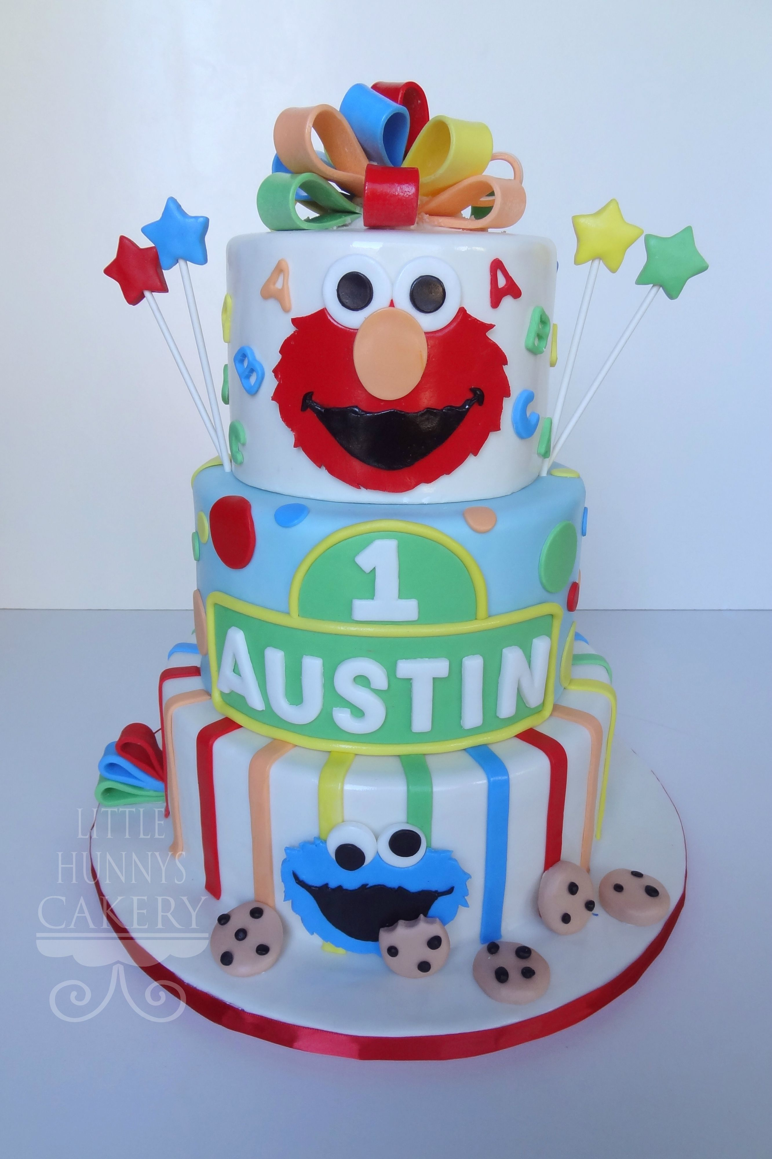 Sesame Street first birthday cake Birthday Easton Pinterest