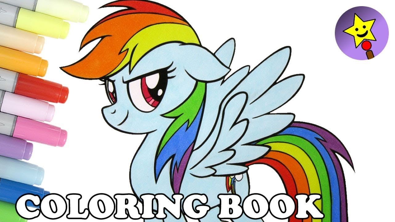 Rainbow Dash coloring book page My Little Pony The Movie coloring ...