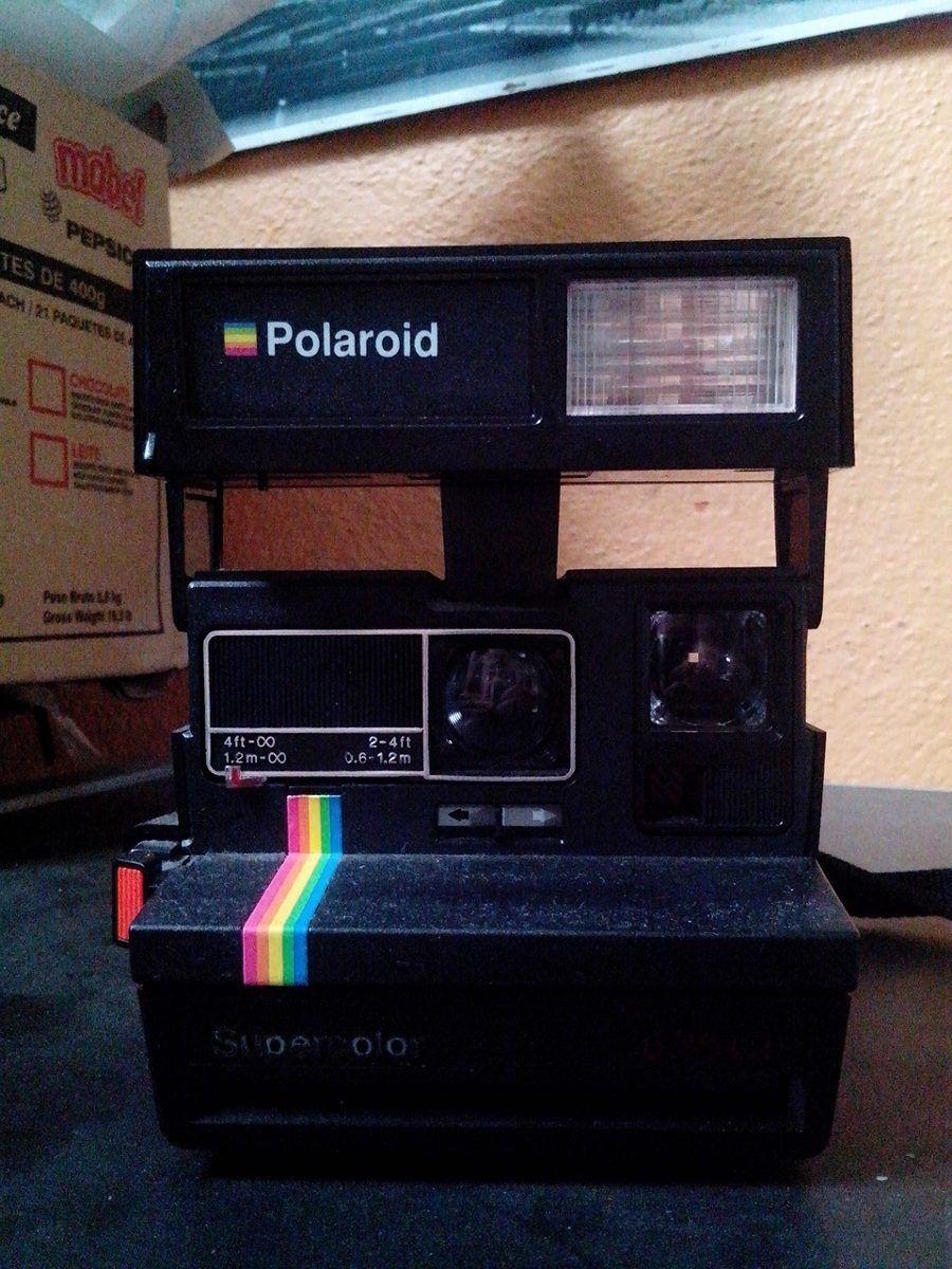660dcf5d10797 Camera Antiga Polaroid Super Color 635 Rara - Manual E Caixa - R  280