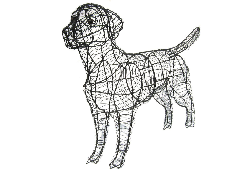 Labrador Topiary Frame: Amazon.co.uk: Kitchen & Home | Dog topiary ...