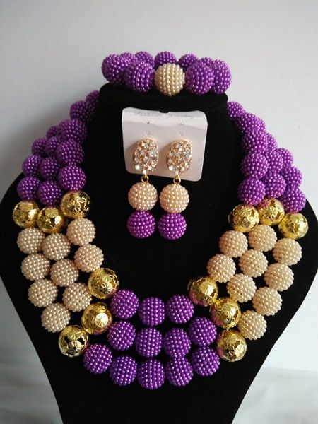 Aliexpress Com Buy Fashion African Beads Jewelry Set Purple
