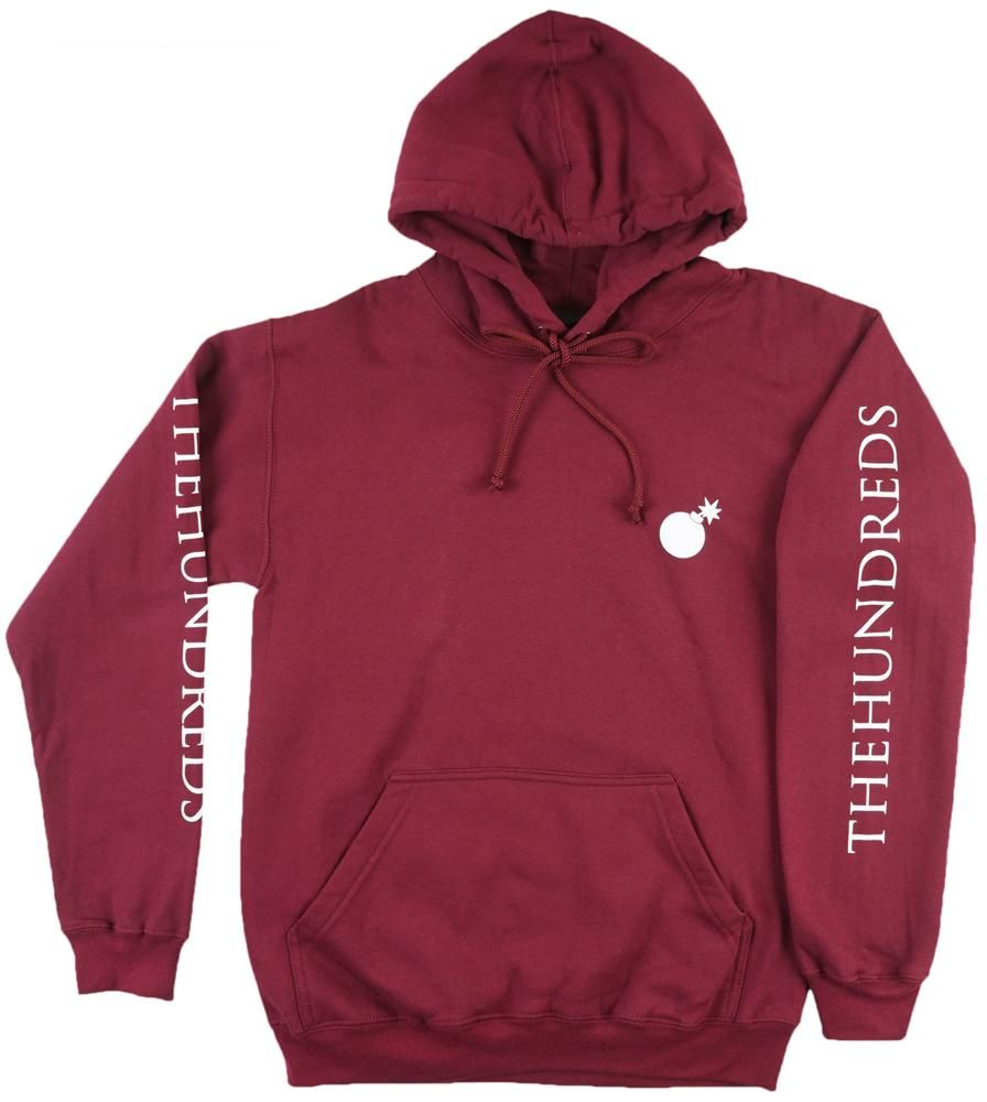 Burgundy The Hundreds Hoodie | Diamond supply, Stussy and Yeezy