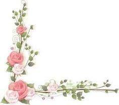 resultado de imagen para marco flores vintage png plantillas