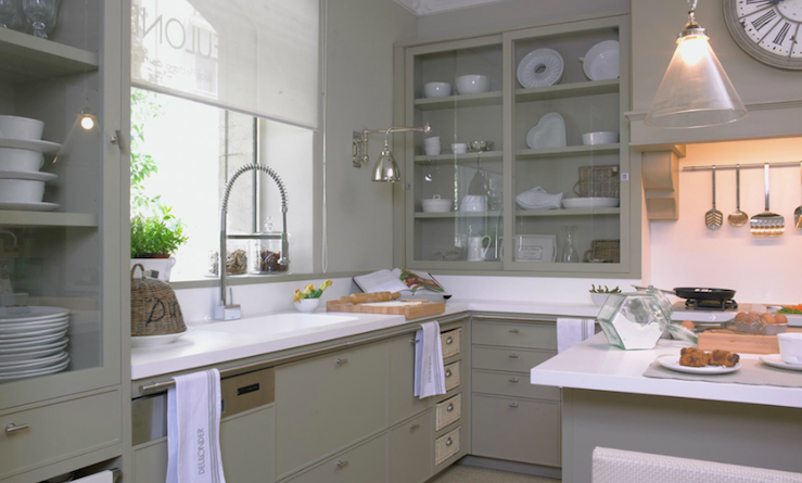 Deulonder Com Fantastic Gray European Kitchen With Glass