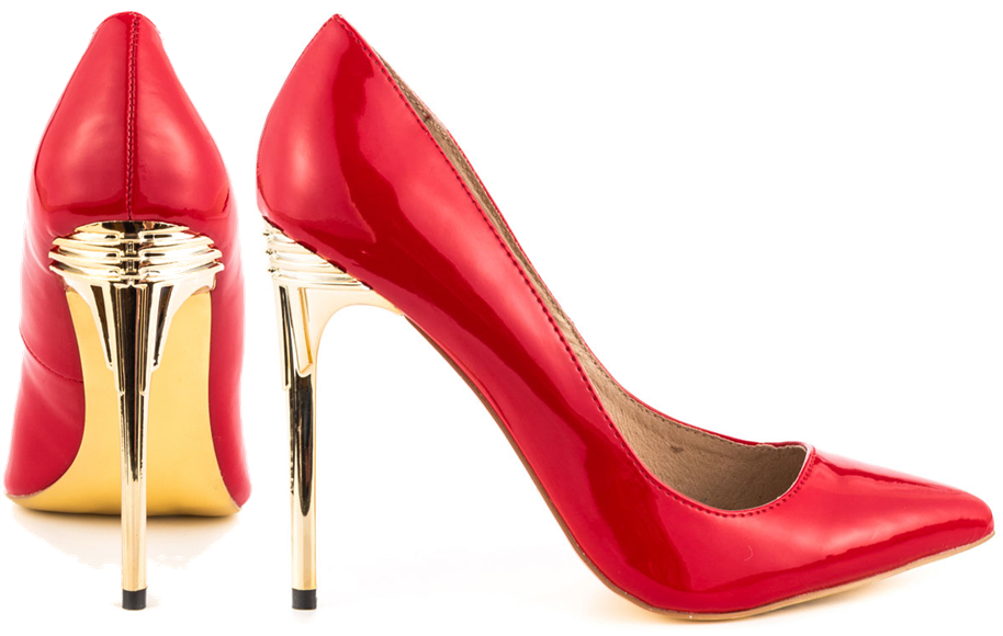 Zigi Soho Pippa red patent pumps with gold heels Sexy!!