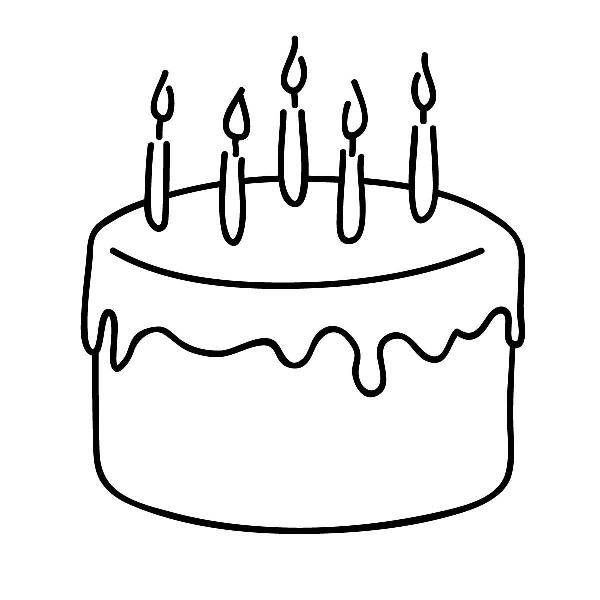 Birthday cake clip art free black and white | Clip Art To ...
