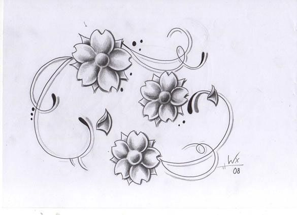 Simple Floral Line Art : For those who don u ac™t like to experiment too much this simple and