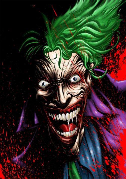 the joker at his scariest geekiness worth pinning pinterest
