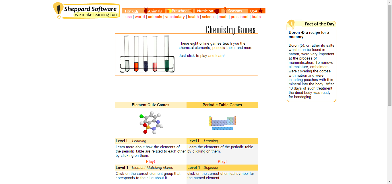 Chemical element games periodic table info science chemistry learn about the periodic table chemistry the elements and more with these free online quizzes and games biocorpaavc Images