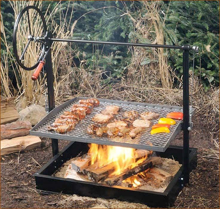Cowboy Fire Pit Grill With Regulator Fire Pit Cooking Fire