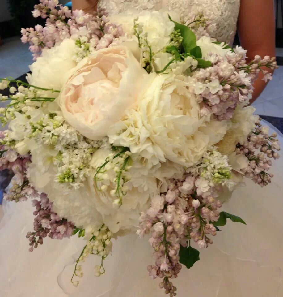 Lily Of The Valley Bouquet: Peony, Lilac, Freesia, Lily Of The Valley Bridal Bouquet