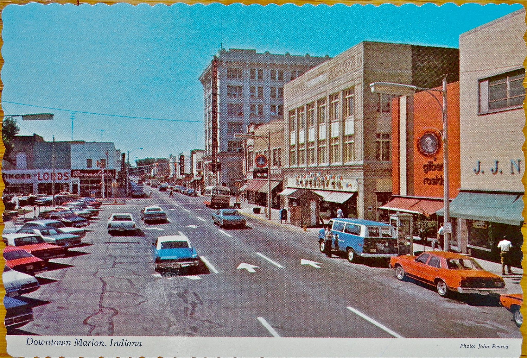Downtown Marion in the late 1960 s or early 1970 s Nancy