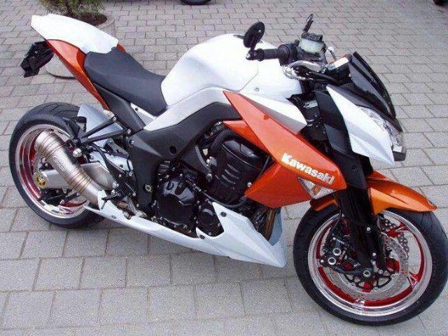 Custom Sport Bikes Flat Tracker Cars Motorcycles Super Kawasaki Z1000 Orange Dreams Sports Nice