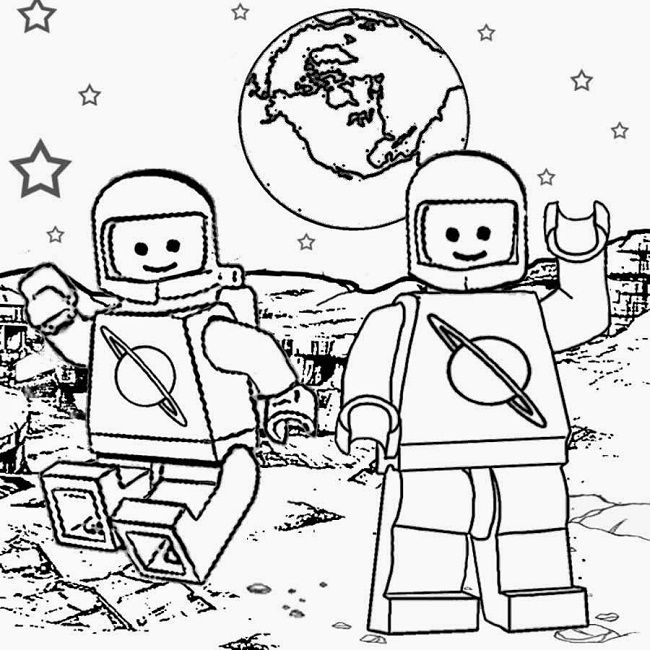 Lego Man Coloring Pages To Print Warna