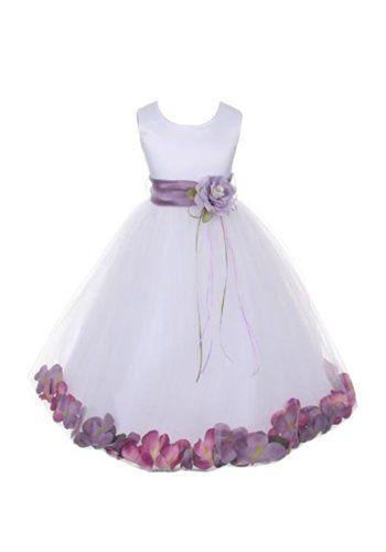 ac626670277f DressForLess Satin Silk Pick Your Petals Flower Baby and Girl Dress ...