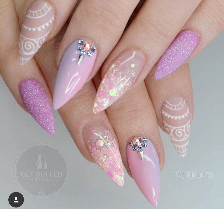 Pin De Breyonnaaa En Pink Nails Unas De Maquillaje Manicura De Unas Unas Estileto