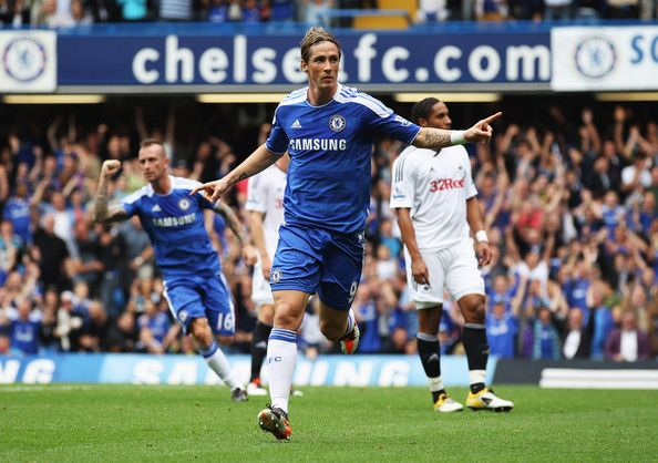 24th Sept 2011 - Torres scores his second goal in as many games as Chelsea sweep aside Swansea 4-1 at Home.