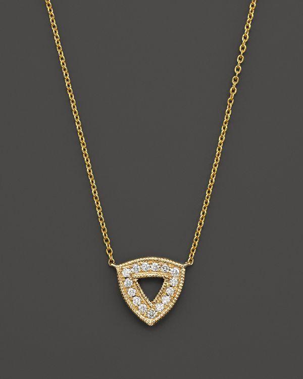 "Dana Rebecca Designs 14K Yellow Gold Emily Sarah Necklace with Diamonds, 16"""