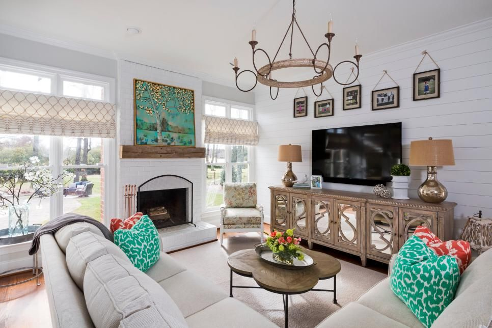 Living Room Complete With Timeless, Neutral Sectional ...