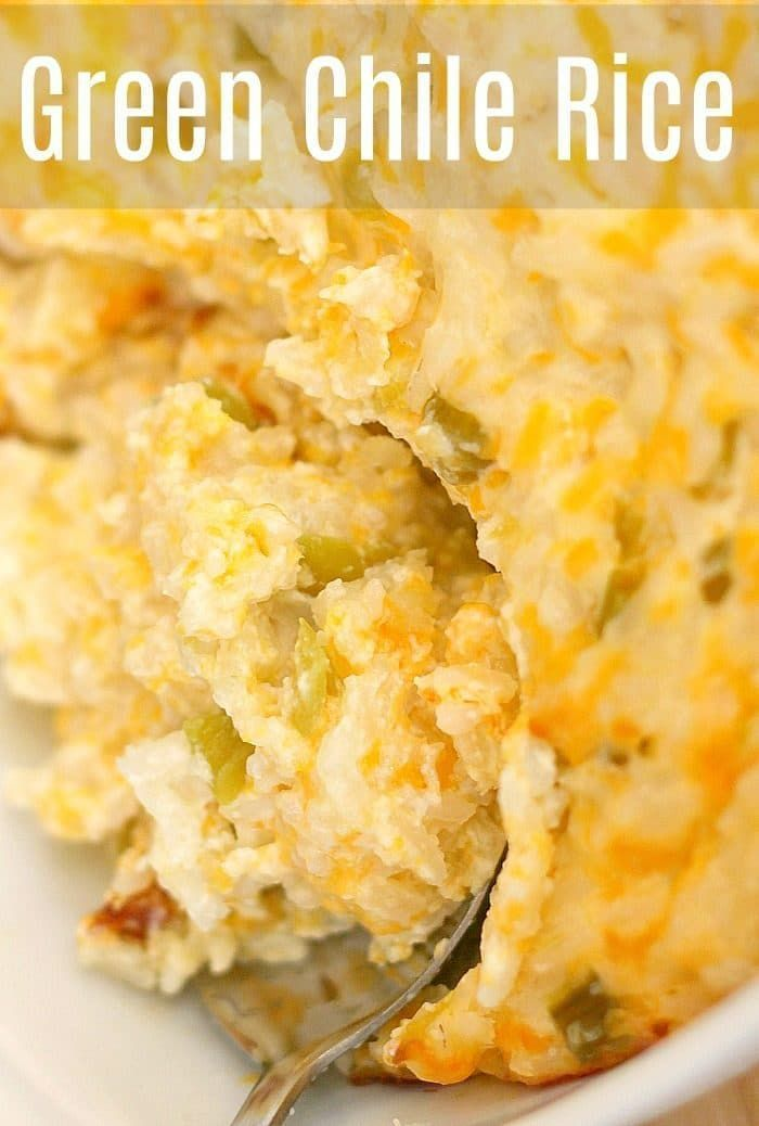 Green Chile Rice is a Killer Side Dish!